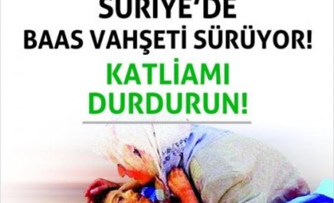 Suriye'deki katliama sessiz kalma!