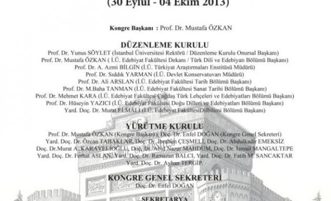 310 bilim adamı Türkoloji Kongresi'nde