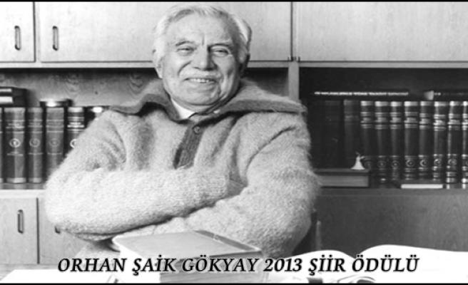 Orhan Şaik Gökyay 2013 Şiir Ödülü