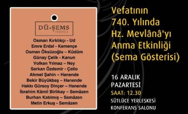 İstanbul Ticaret Üniversitesinde Şeb-i Arus