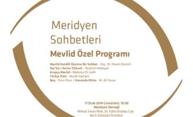Meridyen'de Mevlid Kandili programı