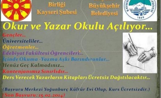 Kayseri'de Okur Yazar Okulu