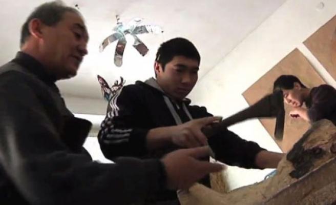 Kırgız el sanatları okullu oldu (video)