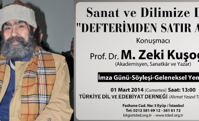 Zeki Kuşoğlu TDED'de