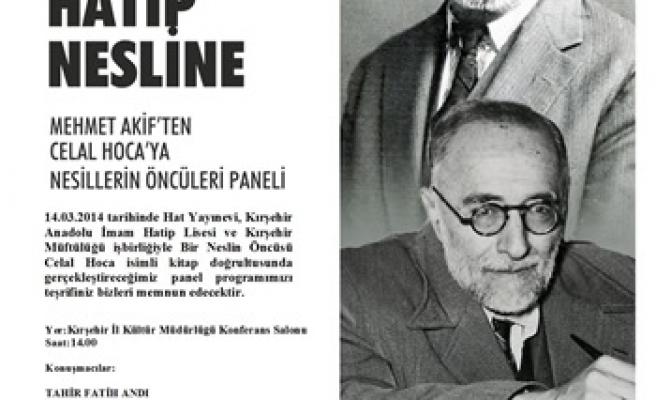 Kırşehir'de Celal Hoca anılacak