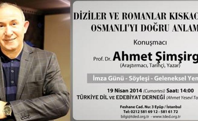 Ahmet Şimşirgil TDED'nin konuğu