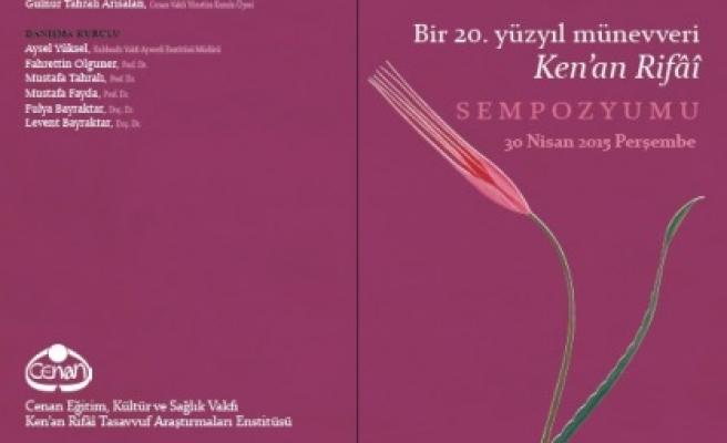 Beşiktaş'ta Kenân Rifâî Sempozyumu