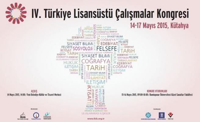 4. Türkiye Lisansüstü Çalışmalar Kongresi Kütahya'da