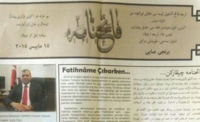 Erbaa'da liseliler Osmanlıca gazete çıkarıyor