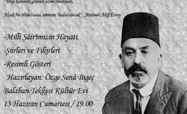 Mehmed Akif Üsküdar'da anılacak