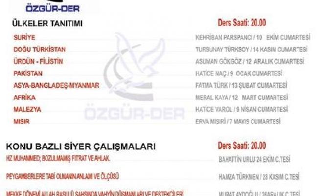Gaziosmanpaşa'da Özgür Der seminerleri