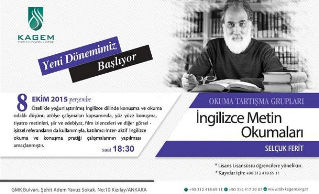 Ankara'da İngilizce okumalar başlıyor