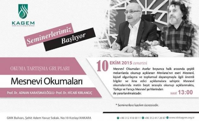 Ankara'da Mesnevi okumaları başlıyor