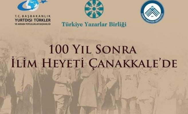 100 yıl sonra ilim heyeti Çanakkale'de
