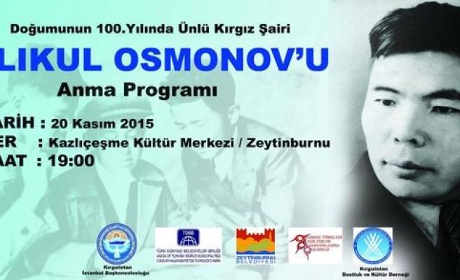 Alıkul Osmonov anılacak