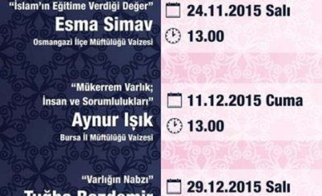 Bursa'da İslam'ın eğitime verdiği değer konuşulacak