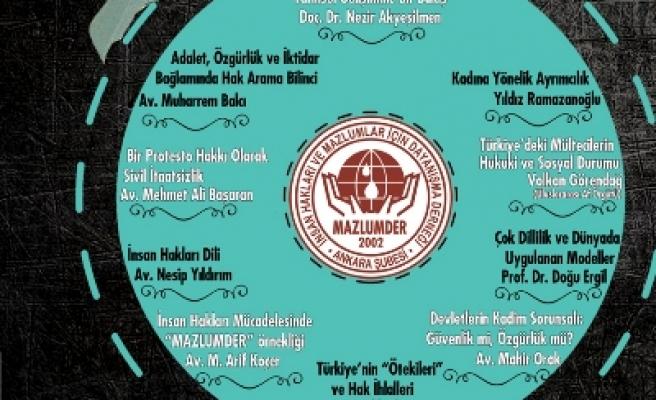İnsan Hakları Okulu Ankara'da başlıyor
