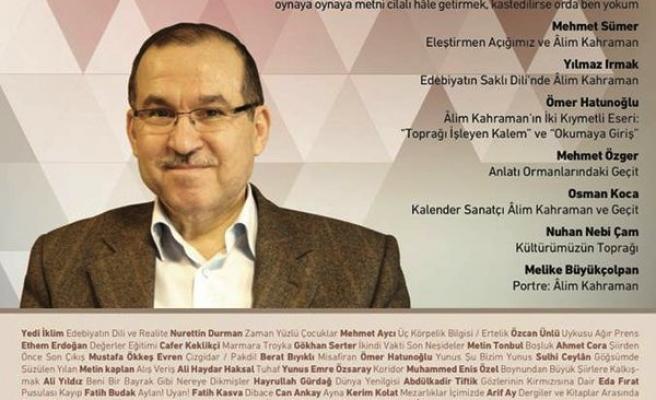 Sanatta da yetkin bir eleştirmen: Alim Kahraman
