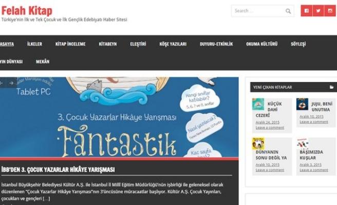 Yepyeni bir çocuk edebiyatı haber sitesi