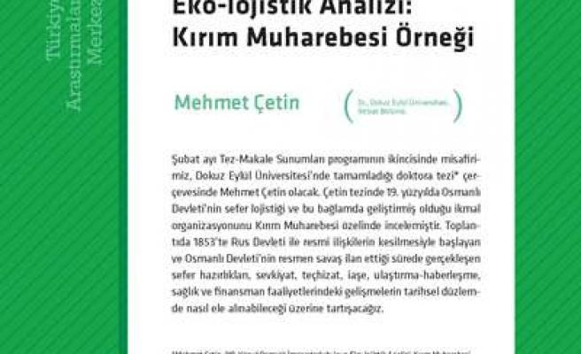 9. yüzyıl Osmanlı'nın eko-lojistik analizi