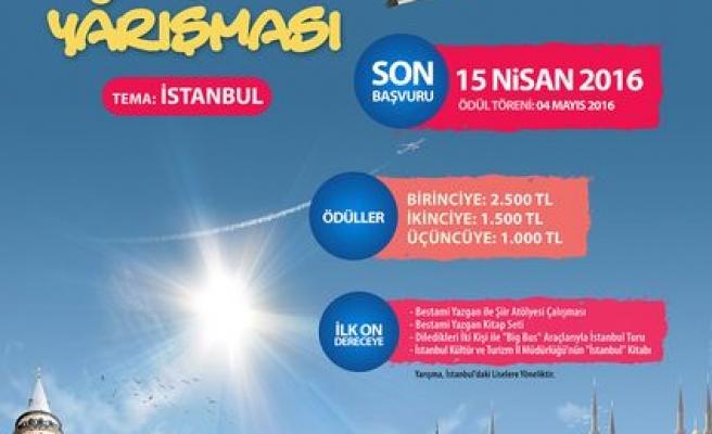 Liselilere 'İstanbul' konulu şiir yarışması