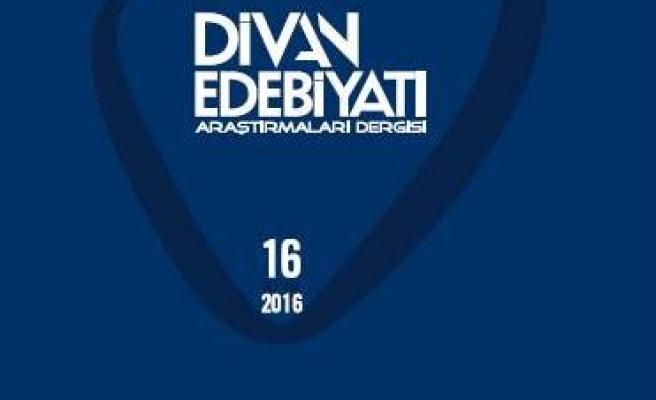 Divan Edebiyatı Araştırmaları Dergisi'nin 16. sayısı çıktı
