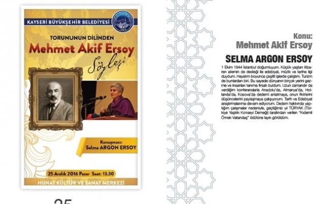 Torunu Mehmet Akif Ersoy'u anlatacak