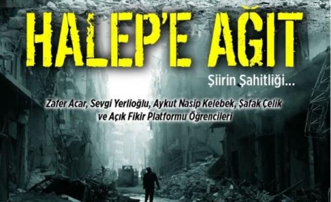 Halep'e şiir şahitlik edecek