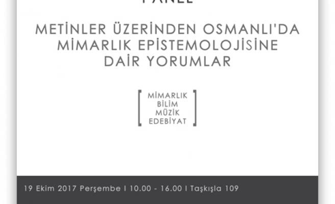 Osmanlı'da Mimarlık Epistemolojisine Dair Yorumlar