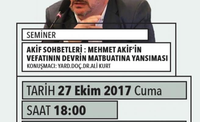 Mehmet Âkif'in Vefatının Devrin Matbuatına Yansıması