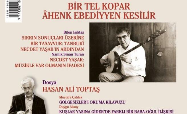 Türk Edebiyatı dergisinden Hasan Ali Toptaş dosyası