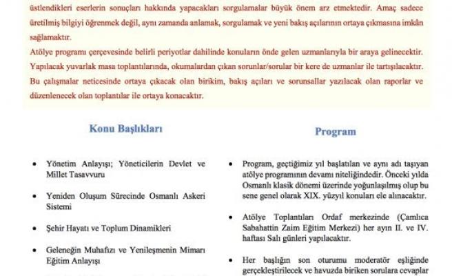 Osmanlı'da Toplum ve Siyaset Atölyesi