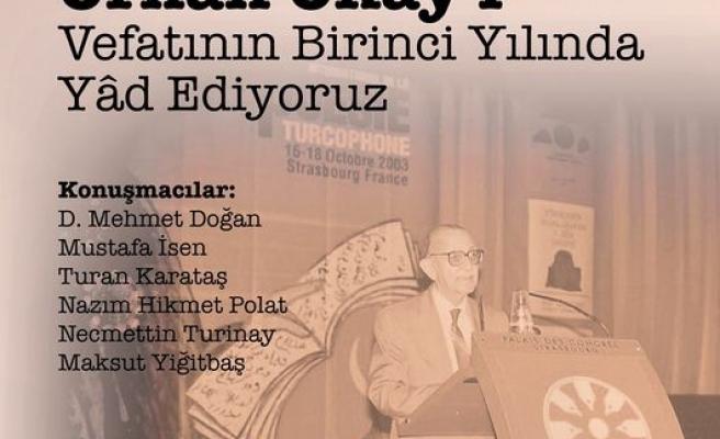 Orhan Okay Ankara'da anılacak