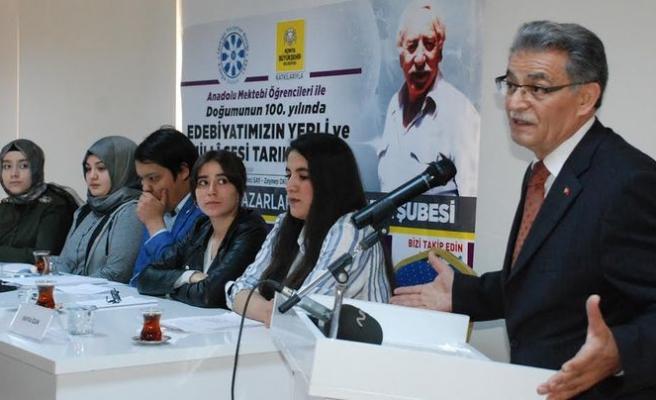 Anadolu Mektebi öğrencileri Tarık Buğra üzerine konuştu