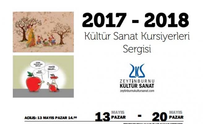 2017- 2018 Kültür Sanat Kursiyerleri Sergisi