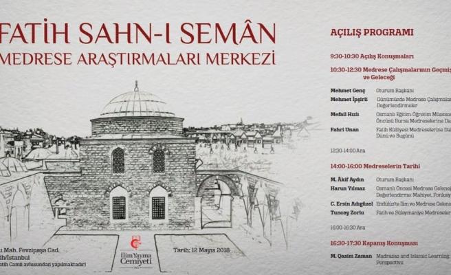 Fatih Sahn-ı Seman Medreseleri 94 Yıl Aradan Sonra Açılıyor