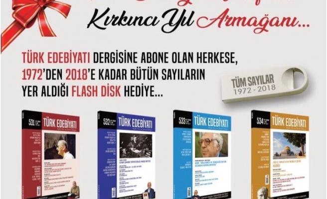 Türk Edebiyatı Dergisi, 40 Yıllık Arşivini Okuruna Hediye Ediyor