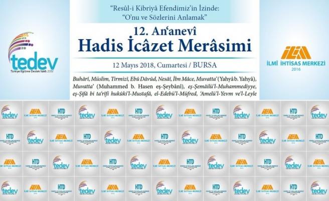 Bursa'da 12. Geleneksel Hadis İcâzet Merâsimi