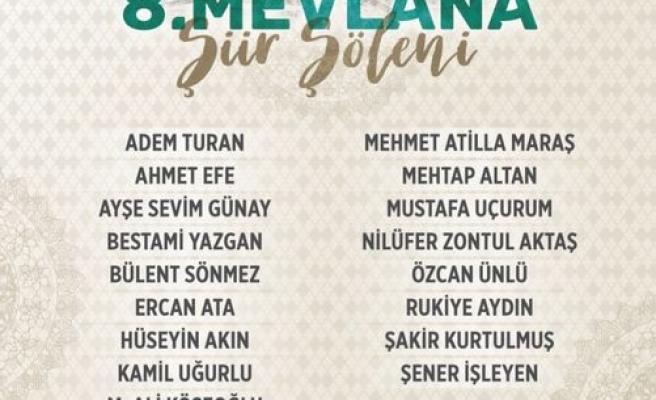 Konya'da 8. Mevlana Şiir Şöleni