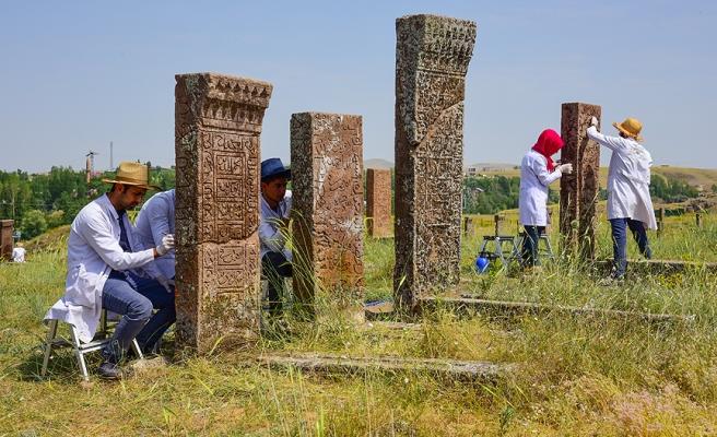 Ahlat'taki Selçuklu Mezarlığı'nda Çalışmalar Devam Ediyor