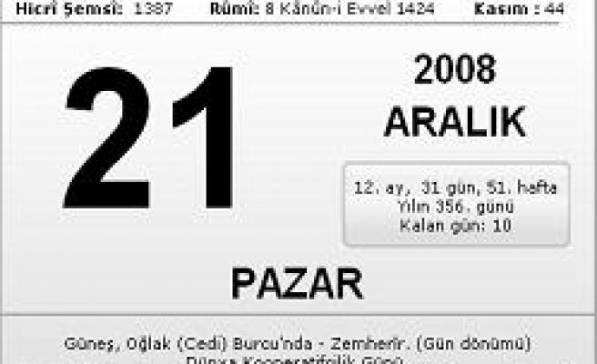 21.12.2008 Pazar