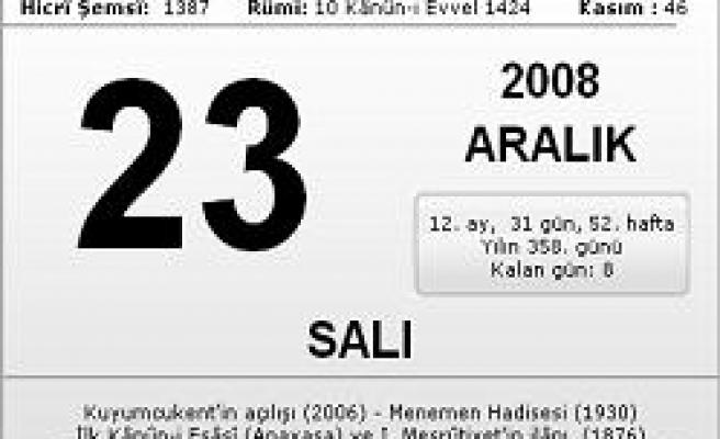 23.12.2008 Salı