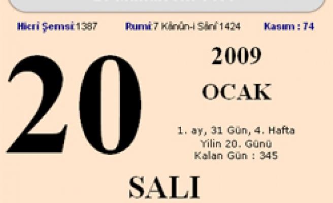 20 Ocak 2009 Salı