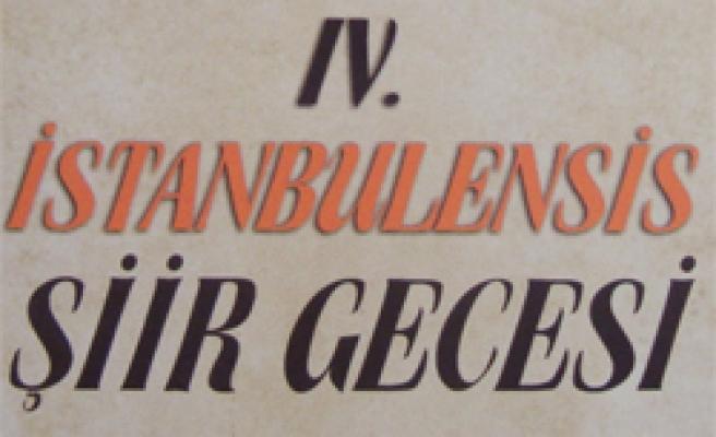 İstanbulensis şiir gecesi