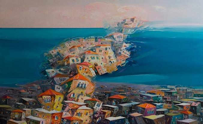 Lübnan'da yırtık bir portreye bakarken Halil Cibran!