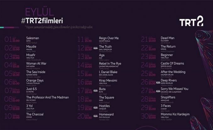 TRT 2 Eylül ayında her akşam farklı bir filmi ekrana getirecek