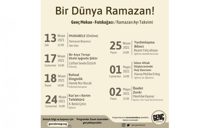 Genç Mekan Fıstıkağacı'nda Ramazan ruhunu birlikte yaşayalım!