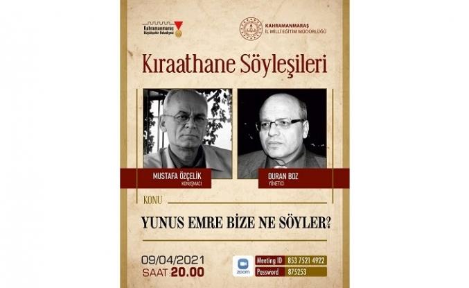 Kıraathane Söyleşileri'nin bu haftaki konuğu şair/yazar: Mustafa Özçelik