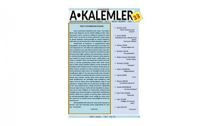 Akalemler dergisi 33. sayısıyla okuru selamlıyor